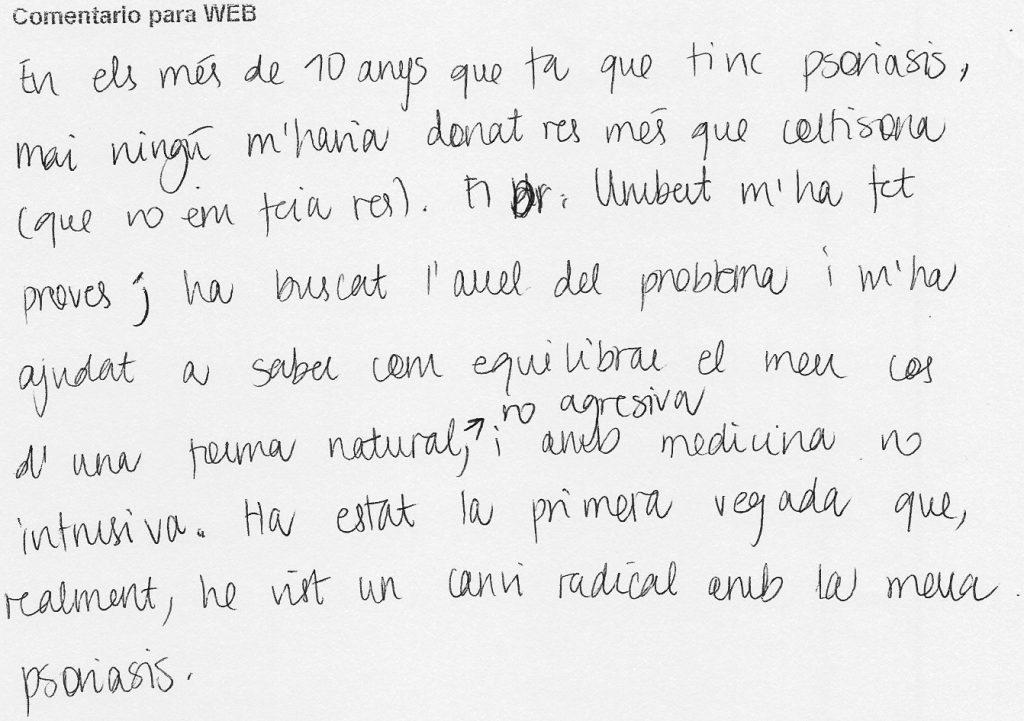 opiniones tratamiento psoriasis Barcelona