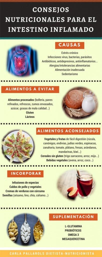 Consejos nutricionales para el intestino inflamado